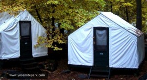 Tent cabins at Curry Village